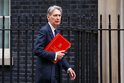 © Licensed to London News Pictures. 13/05/2016. London, UK. Foreign Secretary PHILIP HAMMOND arrives at Number 10 Downing Street ahead of a meeting with Chilean President Michelle Bachelet on Friday, 13 May 2016. Photo credit: Tolga Akmen/LNP