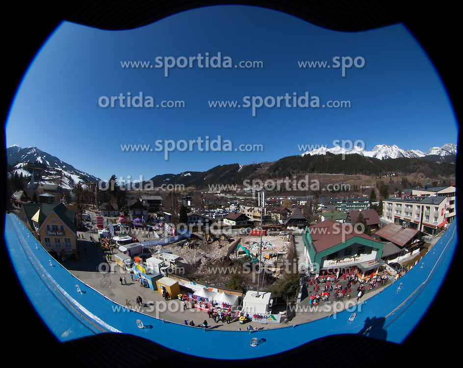 16.03.2012, Planai, Schladming, AUT, FIS Weltcup Ski Alpin, Teambewerb, im Bild übersicht Zielstadion // overview Finisharea Planaistadion during Nation Team Event of FIS Ski Alpine World Cup at 'Planai' course in Schladming, Austria on 2012/03/16. EXPA Pictures © 2012, PhotoCredit: EXPA/ Johann Groder
