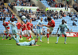 Bristol City's Luke Ayling heads towards goal  - Photo mandatory by-line: Joe Meredith/JMP - Mobile: 07966 386802 - 18/10/2014 - SPORT - Football - Coventry - Ricoh Arena - Bristol City v Coventry City - Sky Bet League One