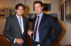 Left to right, EDWARD TAYLOR and LORD HYDE at a private view of paintings by George Lewis held at the Air Gallery, 32 Dover Street, London W1 on 5th October 2005.<br /><br />NON EXCLUSIVE - WORLD RIGHTS