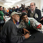 Resistance: The best Olympic Spirit. With John Carlos, Doreen Lawrence, Janet Alder and others. John Carlos signs books to a very happy crowd of fellow political activists. John Carlos is the one on the far right on the poster behing him, the iconic picture from Mexico. John Carlos won Bronze in the 200 Olympics final in 1968 in Mexico. He and his fellow black American runner, Tommie Smith who won Gold, raised their black gloved fists, wearing no shoes, on the podium to highlight the plight of black Americans. Both lost their medals and were expelled from the American Olympic team and sent home where they faced years of death threats and struggling to keep their careers going. The image of the two men became an iconic symbol of standing up against oppression not just for black Americans but worldwide.