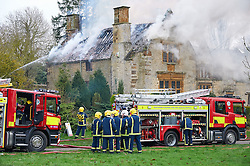 Armada House Weston Northamptonshire built in 1588 was original manor house in village. House was totally destroyed by fire, 2011