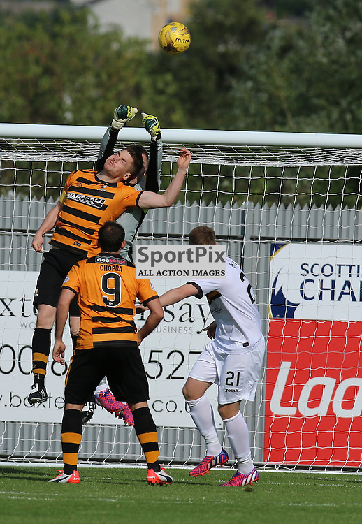 Mark Brown Punches clear during the Dumbarton FC v Alloa FC Scottish Championship 5th September 2015 <br /> <br /> (c) Andy Scott | SportPix.org.uk