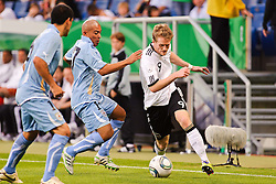 29.05.2011, Rhein-Neckar-Arena, Sinsheim, GER, LS FSP, Deutschland (GER) vs Uruguay (UY), im Bild Egido Arevalo Rios (L) of Uruguay and Andre Schuerrle (R) of Germany battle fot the ball during the Football Friendly Ship betweem Germany and Uruguay  for the Rhein-Neckar-Arena in Sinsheim, Germany, 2011/05/29, EXPA Pictures © 2011, PhotoCredit: EXPA/ nph/  Roth       ****** out of GER / SWE / CRO  / BEL ******