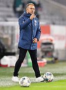 """Trainer Hans-Dieter """"Hansi"""" Flick (Bayern) gestures during the Bayern Munich vs Eintracht Frankfurt, German Cup Semi-Final at Allianz Arena, Munich, Germany on 10 June 2020."""