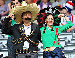 26.05.2010, Badenova Stadion, Freiburg, GER, FIFA Worldcup Vorbereitung, Niederlande vs Mexiko, im Bild Mexikanische Fans, EXPA Pictures © 2010, PhotoCredit: EXPA/ nph/  Roth / SPORTIDA PHOTO AGENCY