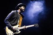 Gary Clark Jr. performs in Austin, TX. Photo by John Lill