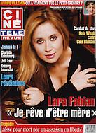 Singer Lara Fabian - Ciné Télé Revue -Belgium/France - Cover by Tony Barson