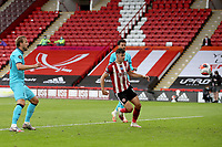Football - 2019 / 2020 Premier League - Sheffield United vs Tottenham Hotspur<br /> Harry Kane of Tottenham Hotspur scores his sides first goal  to make the score 3-1, at Bramall Lane.<br /> <br /> COLORSPORT/PAUL GREENWOOD