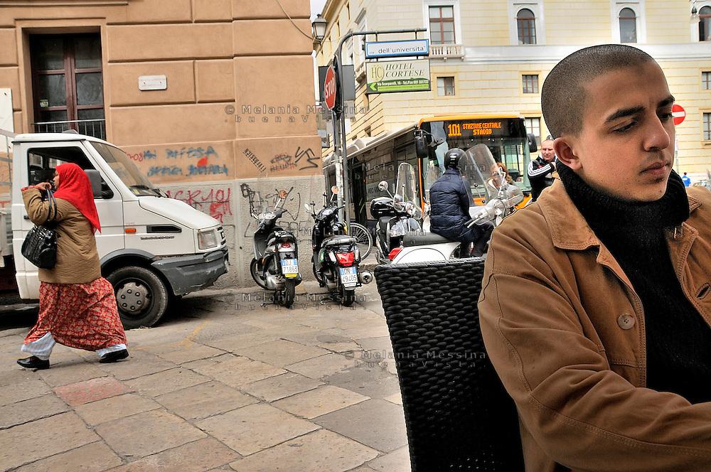 Palermo, Rabih was born in Palermo, but his family come from Tunisia, he created a blog during the revolution in Tunisia to share with the community from North Africa the images of the protest.<br /> Palermo, Rabih nato a Palermo da una famiglia tunisina, durante la rivolta dei gelsomini ha creato un blog per diffondere nella comunit? maghrebina le immagini delle proteste in Tunisia.