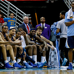 Mar 22, 2013; New Orleans, LA, USA; Memphis Grizzlies starters watch from the bench during the final moments of a loss to the New Orleans Hornets at the New Orleans Arena. The Hornets defeated the Grizzlies 90-83.  Mandatory Credit: Derick E. Hingle-USA TODAY Sports
