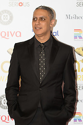 Victoria House, London, April 26th 2016.  Nitin Sawhney photographed at the Jazz FM awards at Victoria House, Bloomsbury, London.