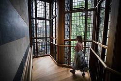 © Licensed to London News Pictures. 29/05/2018. London, UK. The view looking to Parliament from the top of the Weston Tower, a new lift and staircase leading to the Queen's Diamond Jubilee Galleries in Westminster Abbey. The wooden model was commissioned by Sir Christopher Wren to explore the feasibility of adding a tower and spire to the abbey. The recently finished galleries situated in 13th century triforium, 52 feet above the abbey floor, will display treasures not seen by the public before and tell the story of abbey's thousand-year history. Photo credit: Peter Macdiarmid/LNP
