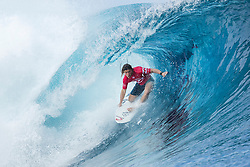 Aug 12, 2017 - Teahupo'o, French Polynesia, Tahiti - Conner Coffin of the USA, current No.17 on the Jeep Leaderboard advanced to Round Three of the Billabong Pro Tahiti after defeating Stu Kennedy of the USA in Heat 9 of Round Two. (Credit Image: © Kelly Cestari/World Surf League via ZUMA Wire)
