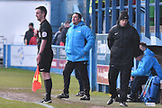 Barrow's manager Paul Cox during the Vanarama National League match between Barrow and Forest Green Rovers at Holker Street, Barrow, United Kingdom on 28 January 2017. Photo by Mark Pollitt.