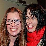 NLD/Amsterdam/20130404- Presentatie kledinglijn Rock & Roll Junkie van Lola Brood, Lola Brood en Louise Schiffmacher - van Teylingen