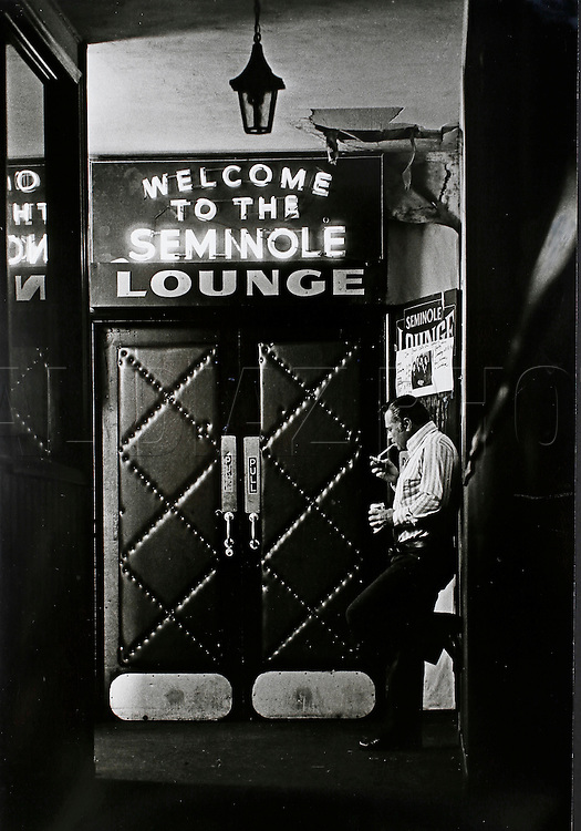The Seminole Lounge in Hialeah before being torn down to make room for new development off Okeechobee Road in Hialeah, 1984.