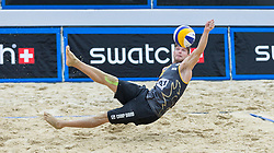 29.07.2015, Strandbad, Klagenfurt, AUT, A1 Beachvolleyball EM 2015, im Bild Stefan Windscheif 2 GER// during of the A1 Beachvolleyball European Championship at the Strandbad Klagenfurt, Austria on 2015/07/29. EXPA Pictures © 2015, EXPA Pictures © 2015, PhotoCredit: EXPA/ Mag. Gert Steinthaler