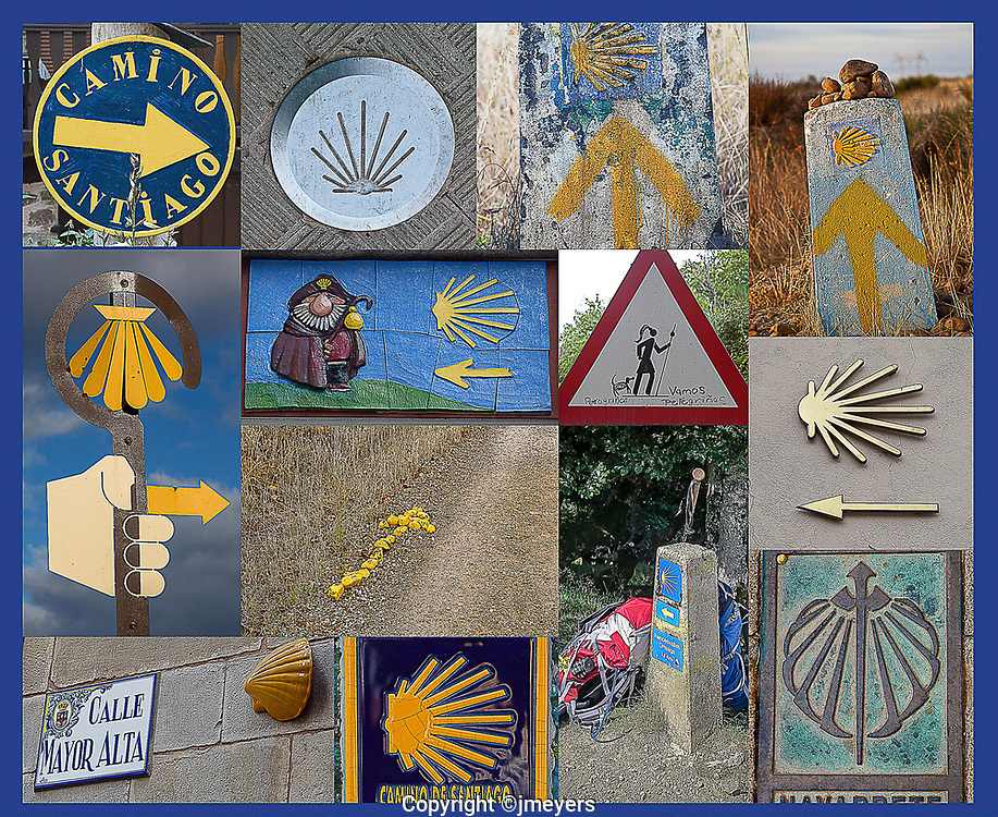 camino sign collage