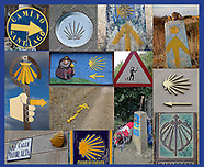 Camino Shells, arrows and route-markers
