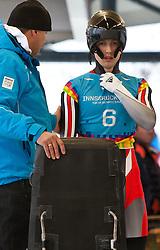 """21.01.2012, Bobbahn Igls, Innsbruck, AUT, Olympische Jugend Winterspiele, Skeleton, Herren, im Bild Silbermedaillen Gewinner Stefan Richard Geisler (AUT)  begeistet sich auf den Start vor // 2nd Place Stefan Richard Geisler (AUT) prepares for Start during the mens Skeleton of the Winter Youth Olympic Games at the """"Bob Track Igls"""", Innsbruck, Austria on 2012/01/21, EXPA Pictures © 2012, PhotoCredit: EXPA/ Juergen Feichter"""