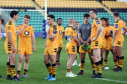 Wasps players look dejected after the final whistle of the Final - Mandatory byline: Patrick Khachfe/JMP - 07966 386802 - 14/09/2019 - RUGBY UNION - Franklin's Gardens - Northampton, England - Premiership Rugby 7s (Day 2)