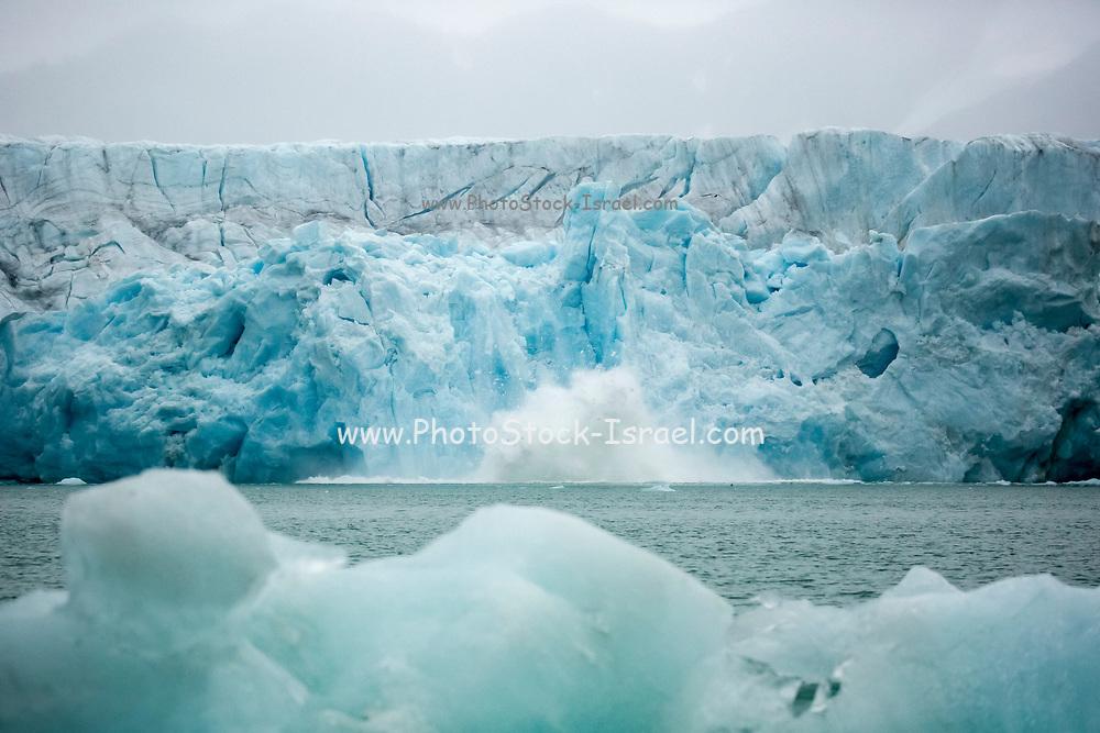 Melting Iceberg. Photographed in Spitsbergen, Svalbard, Norway