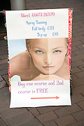 Spray tanning poster advert
