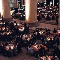 A dinner is held in the Pension Building in Washington, DC.