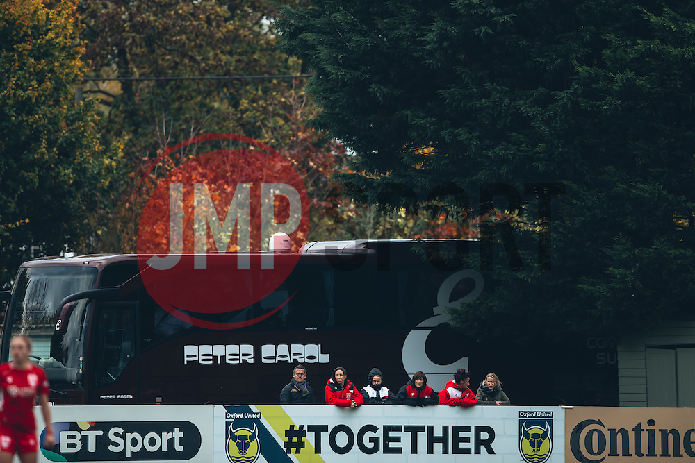 Bristol City Women imjured players and fans - Rogan Thomson/JMP - 06/11/2016 - FOOTBALL - The Northcourt Stadium - Abingdon-on-Thames, England - Oxford United Women v Bristol City Women - FA Women's Super League 2.