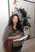 Ay Tjoe Christine, Indonesian Eye Contemporary Art Exhibition Reception, Saatchi Gallery. London. 9 September 2011. <br /> <br />  , -DO NOT ARCHIVE-© Copyright Photograph by Dafydd Jones. 248 Clapham Rd. London SW9 0PZ. Tel 0207 820 0771. www.dafjones.com.