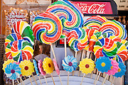 "01 SEPTEMBER 2011 - ST. PAUL, MN:  Candy in a food booth at the Minnesota State Fair. The Minnesota State Fair is one of the largest state fairs in the United States. It's called ""the Great Minnesota Get Together"" and includes numerous agricultural exhibits, a vast midway with rides and games, horse shows and rodeos. Nearly two million people a year visit the fair, which is located in St. Paul. PHOTO BY JACK KURTZ"