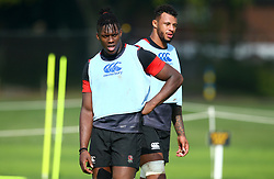 Maro Itoje and Courtney Lawes of England during the training Camp at St Edwards College in Oxford - Mandatory by-line: Robbie Stephenson/JMP - 26/09/2017 - RUGBY - England - England rugby training session