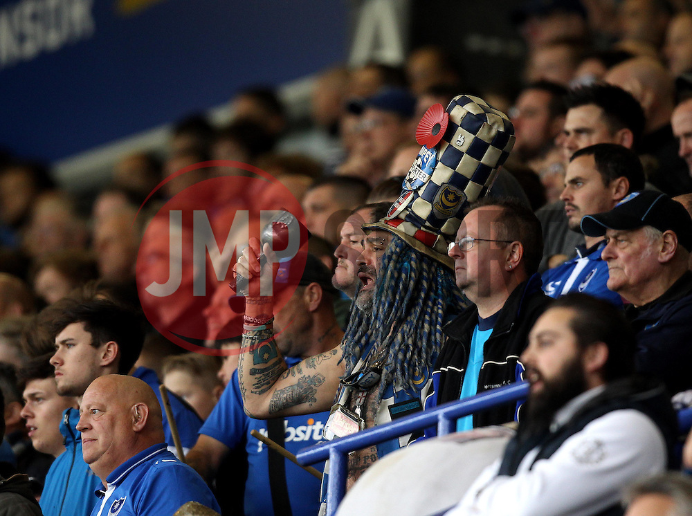 Portsmouth fan John Portsmouth rings his bell - Mandatory byline: Robbie Stephenson/JMP - 07966 386802 - 15/11/2015 - Rugby - Fratton Park - Portsmouth, England - Portsmouth v AFC Wimbledon - Sky Bet League Two