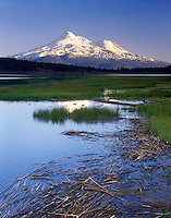 Mount Shasta from Grassy Lake, Klamath National Forest California USA