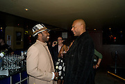 Shaun Parkes; Colin Salmon, Party after the Premiere of 'Clubbed', at Sugar Reef. SohoLondon. 7 January 2009 *** Local Caption *** -DO NOT ARCHIVE-© Copyright Photograph by Dafydd Jones. 248 Clapham Rd. London SW9 0PZ. Tel 0207 820 0771. www.dafjones.com.<br /> Shaun Parkes; Colin Salmon, Party after the Premiere of 'Clubbed', at Sugar Reef. SohoLondon. 7 January 2009