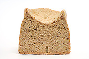 front view of an home made organic whole wheat bread