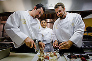 Padres players Adrian Gonzalez and Heath Bell try their hands as gourmet chefs for the Adrian and Betsy Gonzalez Foundation Celebrity  Dinner at Acqua Al 2 in downtown San Diego.