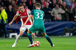 08-05-2019 NED: Semi Final Champions League AFC Ajax - Tottenham Hotspur, Amsterdam<br /> After a dramatic ending, Ajax has not been able to reach the final of the Champions League. In the final second Tottenham Hotspur scored 3-2 / Dusan Tadic #10 of Ajax, Ben Davies #33 of Tottenham Hotspur
