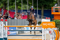 KLAPHAKE Laura (GER), BANTOU BALOU<br /> Münster - Turnier der Sieger 2019<br /> BRINKHOFF'S NO. 1 -  Preis<br /> CSI4* - Int. Jumping competition  (1.50 m) -<br /> 1. Qualifikation Grosse Tour <br /> Large Tour<br /> 02. August 2019<br /> © www.sportfotos-lafrentz.de/Stefan Lafrentz