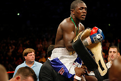 September 29, 2007; Atlantic City, NJ, USA; Andre Berto after knocking out David Estrada at Boardwalk Hall in Atlantic City, New Jersey.