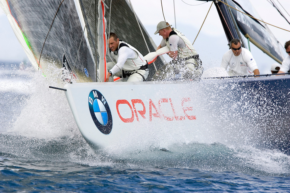 Valencia, SPAIN, Louis Vuitton Cup, Round Robin 2, Flight 5.BMW Oracle Racing (USA)