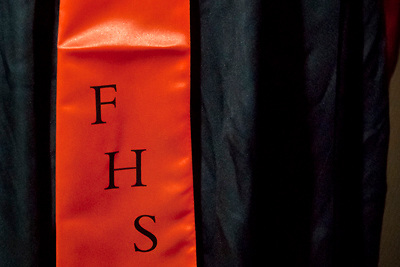Lathan Goumas | MLive.com..The stole of a graduate at the 2012 Flushing High School commencement ceremony at the Whiting Theater in Flint, Mich. on Sunday June 3, 2012.