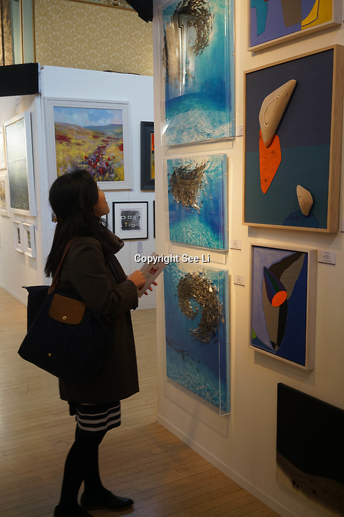 Chelsea Old Town Hall.London,England,UK. 26th April 2017. London: Chelsea Art Fair - press & photocall of King's Road Revolution Where Art meets Music at Chelsea Old Town Hall. by See Li