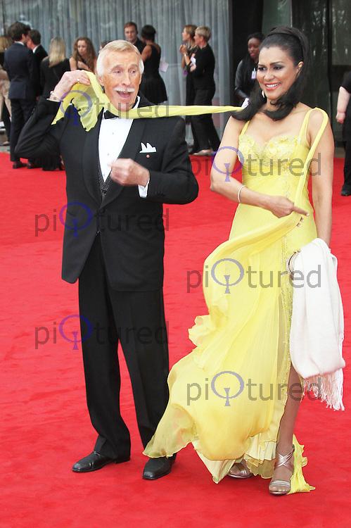 Bruce Forsyth; Wilnelia Merced, Arqiva British Academy Television Awards, Royal Festival Hall London UK, 12 may 2013, (Photo by Richard Goldschmidt)