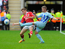 Bristol City's Joe Bryan battles for the ball with Coventry City's Aaron Phillips  - Photo mandatory by-line: Joe Meredith/JMP - Mobile: 07966 386802 - 18/10/2014 - SPORT - Football - Coventry - Ricoh Arena - Bristol City v Coventry City - Sky Bet League One