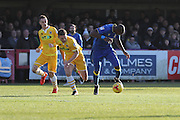 AFC Wimbledon striker Tom Elliott (9) breaks forward during the EFL Sky Bet League 1 match between AFC Wimbledon and Millwall at the Cherry Red Records Stadium, Kingston, England on 2 January 2017. Photo by Stuart Butcher.