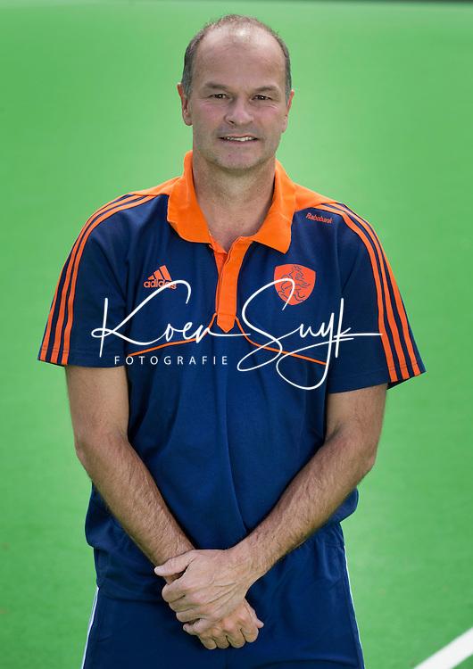 UTRECHT-  Assistent coach Taco van den Honert. Nederlands Hockeyteam.  voor nieuwe platform Hockey.nl. FOTO KOEN SUYK