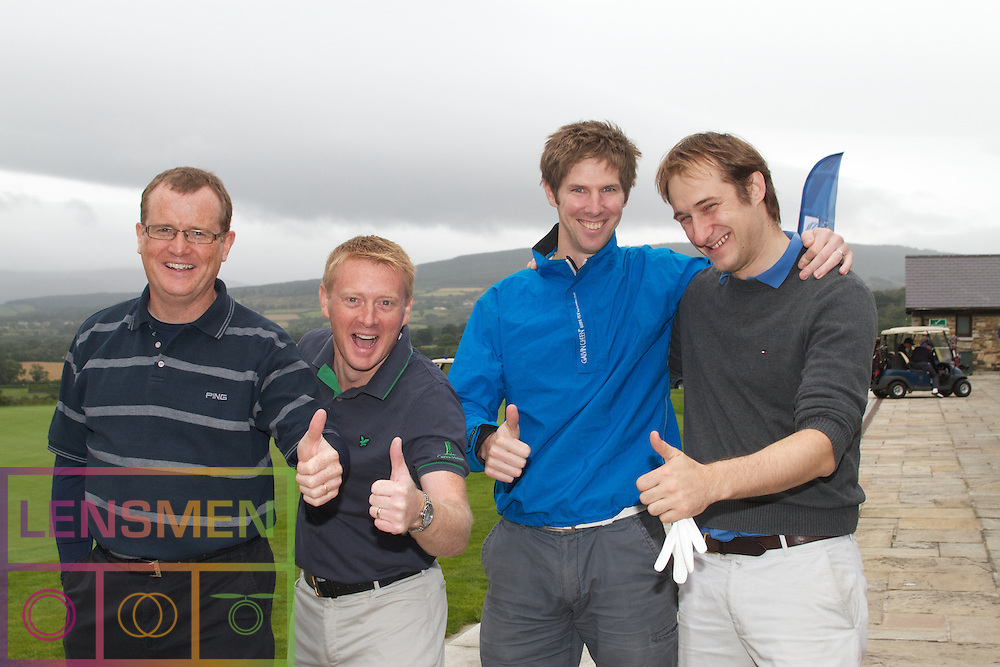 The Ireland-U.S. Council.Golf Day in Ireland...Friday, August 31, 2012 at Dun Laoghaire Golf Club, Enniskerry, County Wicklow, Ireland, Sponsored by United..Liam Brazil, .Fionán Breathnach, .Robert McDonagh, .John O'Leary..