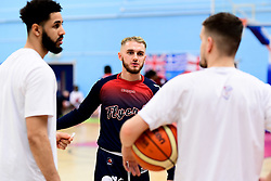 Jordan Nicholls of Bristol Flyers warms up prior to tip off - Photo mandatory by-line: Ryan Hiscott/JMP - 17/01/2020 - BASKETBALL - SGS Wise Arena - Bristol, England - Bristol Flyers v London City Royals - British Basketball League Championship
